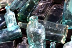 Bottles from 39th St & 9th Ave weekend flea market NYC