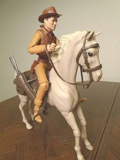 Vintage Marx Best of the West JOHNNY WEST Action Figure w/Horse & Accessories