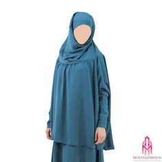 Khimar à fronces à manches - Al Moultazimoun Modest Wear, Mode Hijab, Long Dresses, Modest Fashion, Muslim, Islamic, Feminine, Clothing, How To Wear