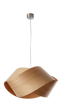 """Nut Suspension Light by LZF - contemporary - ceiling lighting - YLighting Nut Suspension Light by LZF - $460.00 This elegant lamp combines a contemporary look with warm wood veneer that glows overhead. Dimensions: 16.5""""D x 8.2""""H; 6 feet of cord Lamp Type: incandescent, compact fluorescent, cfl; natural wood veneer"""