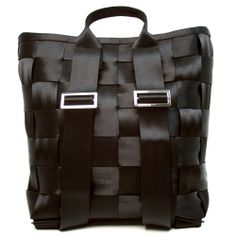 Backpack Black. Because sometimes it'd be handy to have a backpack version of my favorite bags.#seatbeltbags