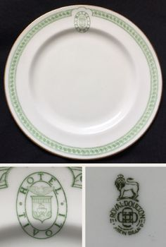 "Royal Doulton China 8"" plate made for the Tivoli Hotel, Ancon - Panama Canal Zone.  Backstamp dates 1923 -1927."