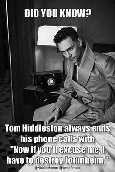 Tom Hiddleston is the perfect nerd :-)