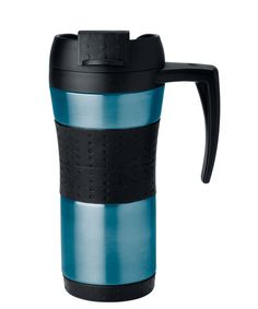 Pros: The locking lid of the Copco Flair Mug prevents leaks and spills, and a small plastic flap lifts open for easy sipping. Con: It won't keep coffee piping hot for a full hour. (In stainless steel, fern green, turquoise, and purple; Buy now from Amazon.com) - GoodHousekeeping.com