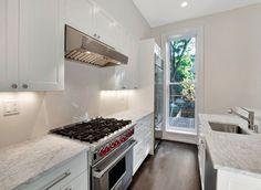 Renovated kitchen in Park Slope brownstone.