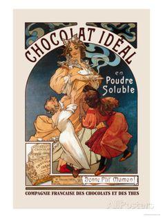 アルフォンス・ミュシャのエレガントなポスター。ヴィンテージな風合いがおしゃれ、バレンタインに飾りたい一枚♡