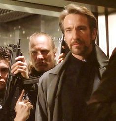 Alan Rickman as Hans Gruber in Die Hard. RIP. Another great actor whose presence and voice can never be replaced.