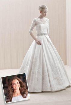 kate middleton inspired wedding dress   Celebrity Inspired Wedding Dresses: Kate Middleton