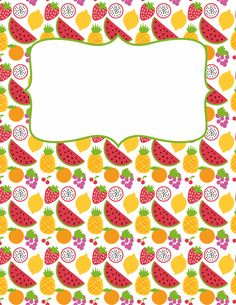 Free printable fruit binder cover template. Download the cover in JPG or PDF format at http://bindercovers.net/download/fruit-binder-cover/