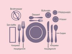 Tisch decken: So funktioniert es richtig Cover the table: how it works correctly Style Pastel, Number Activities, Wedding News, Napkin Folding, Wedding Napkins, Creative Decor, Etiquette, Good To Know, A Table