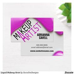 Liquid Makeup Arist Business Card