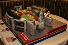 Gillette Stadium Replica, Foxboro, MA - Cake measures roughly 3' x 4'