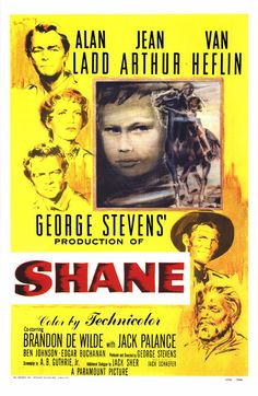 Shane, 1953.  It sat on the shelf for a couple of years because the studio had no faith in it (or maybe because this poster wasn't terribly attractive), but it turned out to be a classic.