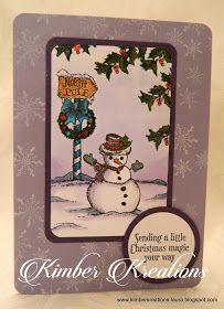 "Here's a little card made using three stamps from a new stamp set from Stampin' up.The set is called ""Christmas Magic "" and it will be ava..."