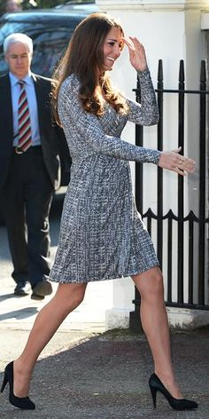 Princess Kate maternity fashion....finally!!    Photos: James Whatling/Splash News/Corbis