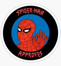 Spidey Approves Sticker