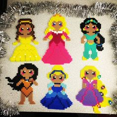 Disney Princess perler beads by amberintheskywithdiamonds