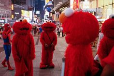 nice A day in the life of a Times Square Elmo impersonator