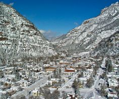 Ouray, CO, one of America's prettiest winter towns.
