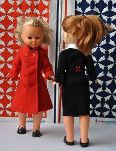 muñecas y azafatas uniformoda