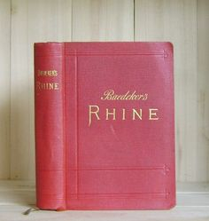 Baedeker's Rhine 1911 Antique Travel Book by CrookedHouseBooks