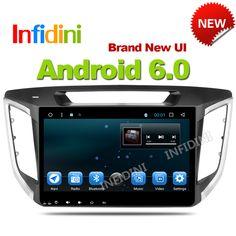 Infidini android 6.0 car dvd gps player 1024*600 For HYUNDAI IX25 CRETA 2014 2015 gps navigation car stereo audio video player //Price: $359.99 & FREE Shipping //     #hashtag4