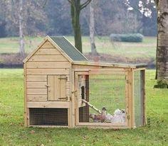 Kippenhok Barnevelder met overdekte ren | Blokhut, Tuinhuisje, Prieëlen, Kippenhok, Tuinkast, Tuinmeubels, Volieregaas, Tuinhout, Speeltoestel LoRas.nl