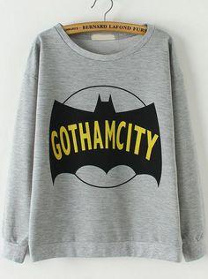 Sweat-shirts motif Batman -gris  15.60