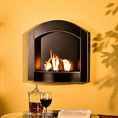 Enliven any space with this wall mountable gel fireplace  This piece is small enough to go anywhere and needs no installation  Gel fuel is the ideal replacement for wood in your fireplace
