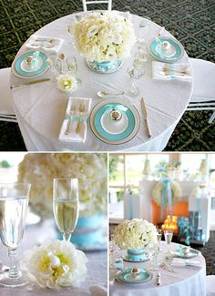 Beautiful Tiffany Blue design idea for brunch, bridal shower or just because.  Fab!