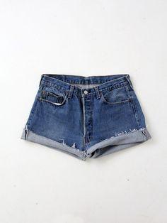 vintage 501 Levi's denim shorts / waist 33 - 86 Vintage