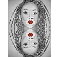Winnie Harlow desigual art Ilustracion