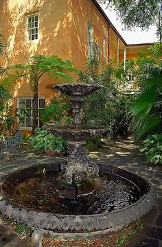 French Quarter Courtyard,