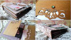 Rękodzieło- wystrój wnętrz,decoupage,cardmakig,kosmetyki, mydła,blog, blogspot , : Eco album w pastelowych odcieniach