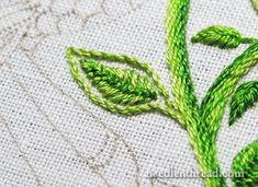 Secret Garden Embroidery Project - Stitching Leaves Tutorial - Sometimes, you just have to go back and change things