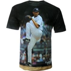 MLB Men's New York Yankees Mariano Rivera Sublimated High Definition Photo Tee Shirt (Yankees, Large). Your One-Of-A-Kind Three60 Gear Original Photo T-Shirt Has Been Created By Hand Using Vivid Action Baseball Photos. The Performance Fabric Includes Wicking, Anti-Microbial Properties, And Is Dye Sublimated Resulting In White Areas Near Seams, Creases Or Folds. These Are Marks Of The Authentic Handcrafted Process.  .