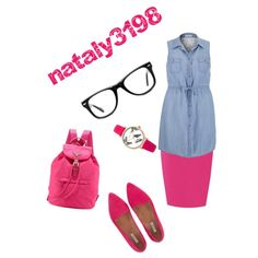 pink school outfit by nataly3198 on Polyvore featuring polyvore fashion style maurices Jigsaw Prada Oasis Muse