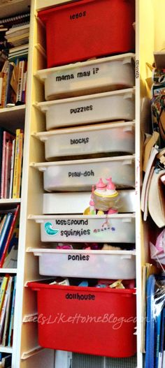 How to make labels for your toy bins and boxes