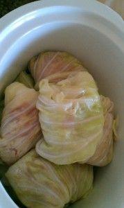 Crock Pot Cabbage Rolls with Ground Turkey. Yummy!!!