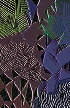 Painted and digital angular pattern - Sarah Bagshaw