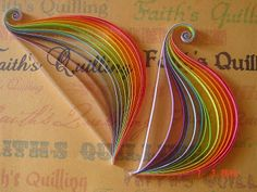 Faith's Quilling: Art of quilling, Paper craft, Quilling, Quilled rainbow feather - step by step in my blog