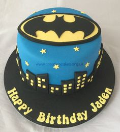Batman Themed Birthday Cake Lego Cakes Party