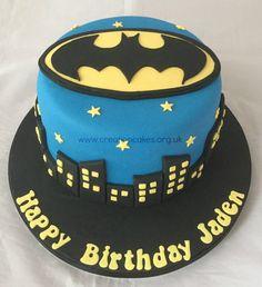 Batman Themed Birthday Cake