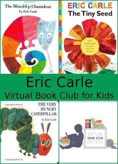 May Virtual Book Club: Eric Carle: Books The Very Hungry Caterpillar, The Tiny Seed (The World of Eric Carle) and The Mixed-Up Chameleon - 3Dinosaurs.com