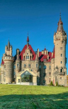 The Moszna castle in Moszna, a small village in south-west Poland near Opole Real Castles, Beautiful Castles, Beautiful World, Beautiful Places, Castle Ruins, Castle House, Medieval Castle, Amazing Buildings, Old Buildings