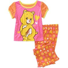 Baby Girls Care Bears 2-Piece PJ Set available at Walmart!