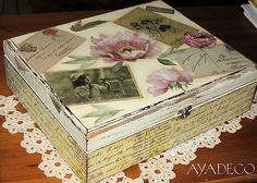 Decoupage box by Ayadeco.pl, via Flickr
