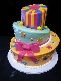 Cookie Jar Bakeshop I Custom Cakes I Birthday Cake I Topsy Turvy Themed Birthday Cake