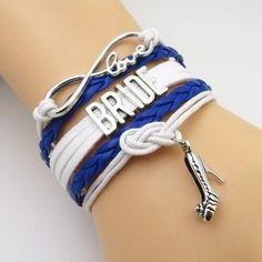 royal blue wedding bride bracelet