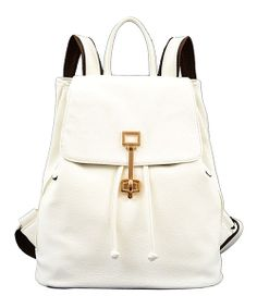 Take a look at the Mellow World White Camille Backpack on #zulily today!